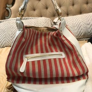 ASOS canvas and leather trim bag